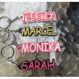 3D PRINTED PERSONALISED NAMED KEYRING - KEYCHAIN