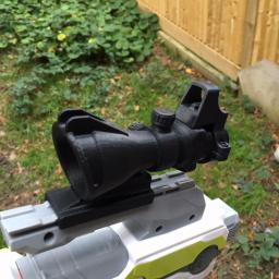 3D PRINTED ACOG HYBRID NERF GUN SCOPE