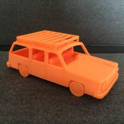 3D Printed Marge Simpsom's Car