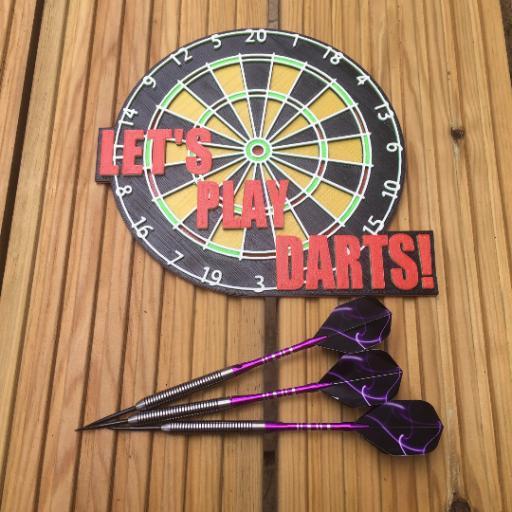 3D Printed Dart Board