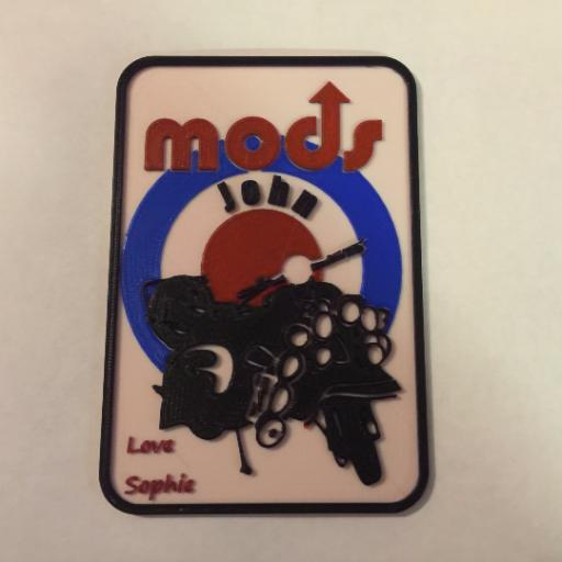 3D PRINTED MODS & ROCKERS PLAQUE