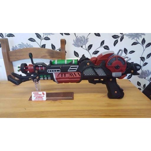 3D Printed Zombie Ray gun mk2 painted
