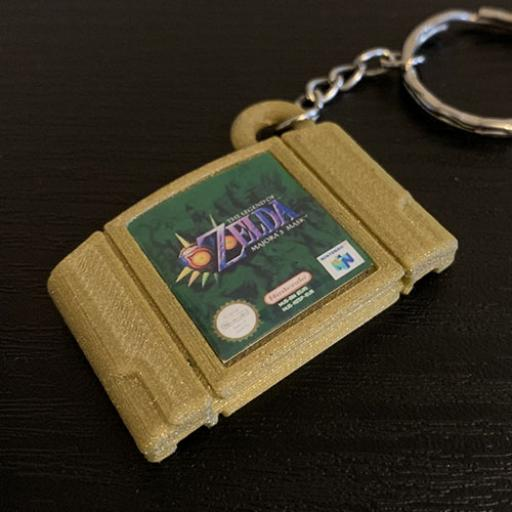 3D Printed N64 Miniature cartridge replica Keyring
